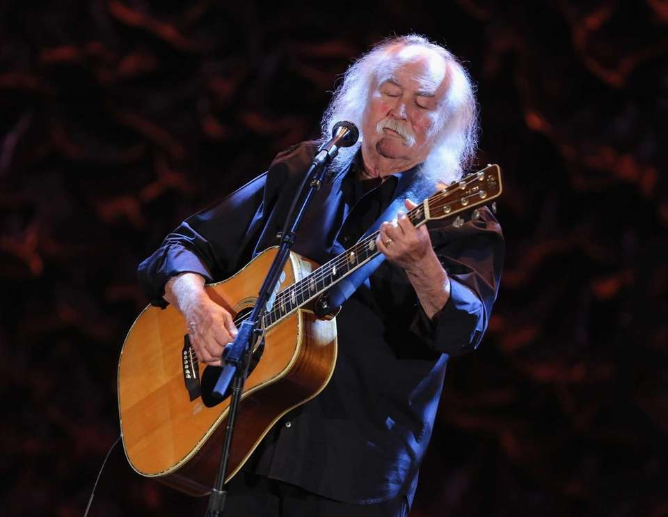 DAVID CROSBY, twice: With The Byrds in 1991