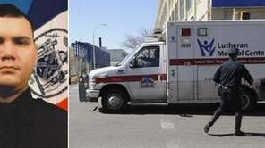 Officer Dennis Guerra, left, 38, and the father