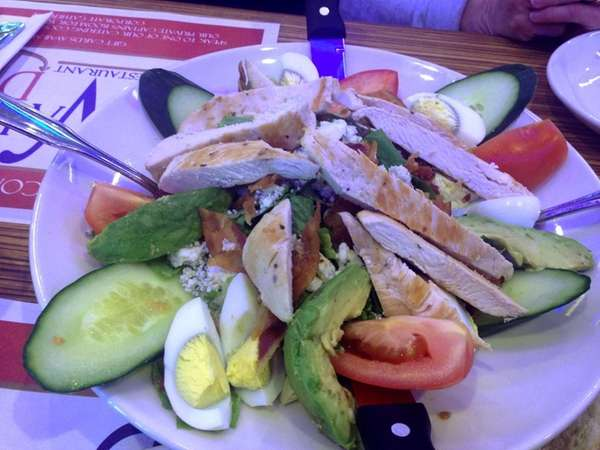 Cobb salad at the reopened Nautilus Diner in