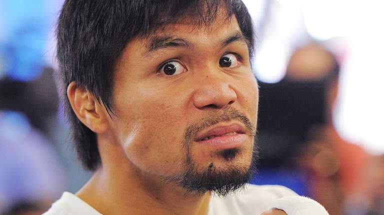 Manny Pacquiao of the Philippines prepares for a