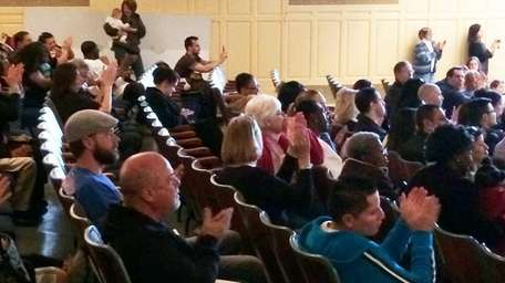 Billy Joel watches the Deasy Elementary School students
