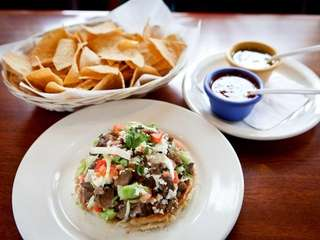 The sope de lengua, or tongue, taco at