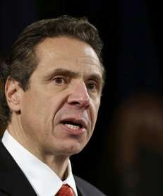 Gov. Andrew M. Cuomo, seen here delivering his