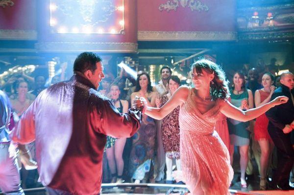 Nick Frost performs a scene with Rashida Jones