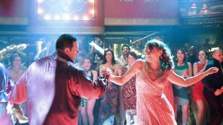 Nick Frost performs a scene with Rashida Jones