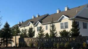 The entrance of Seasons at Plainview, located on