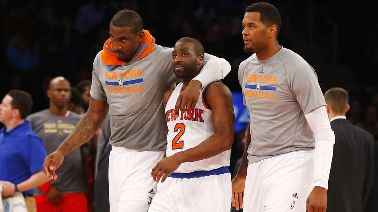 Amar'e Stoudemire #1, Raymond Felton #2 and Jeremy