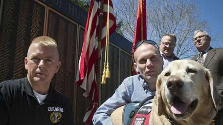 War vets John Walis, 45, of Bay Shore,