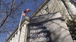 The exterior of the Internal Revenue Service building