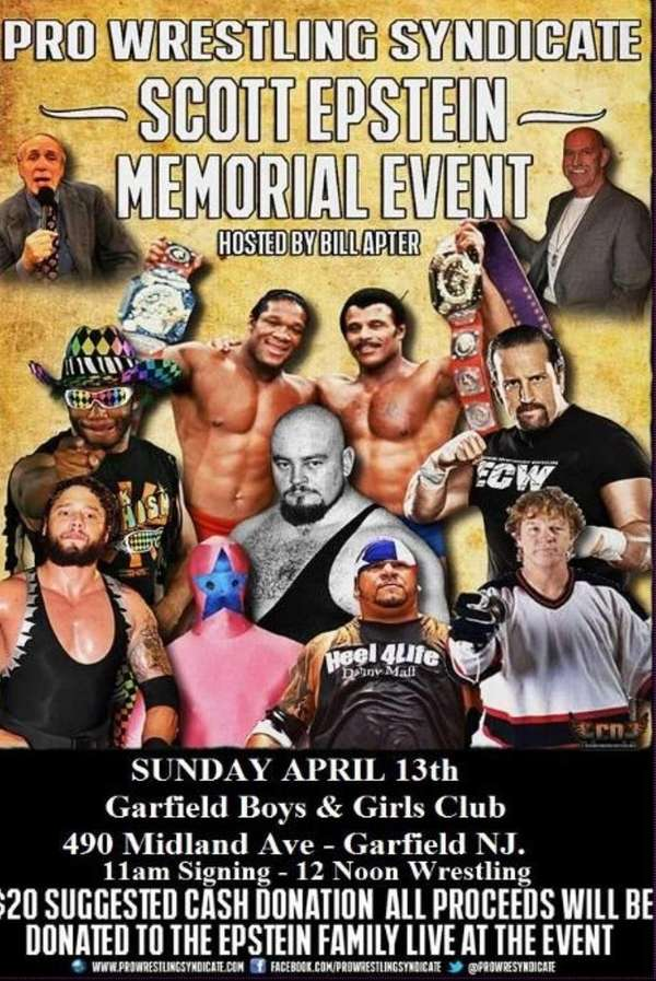 The poster for the Scott Epstein tribute pro