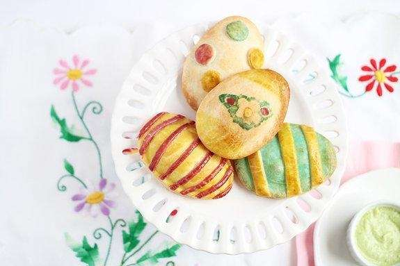 The Easter egg empanadas can be found on