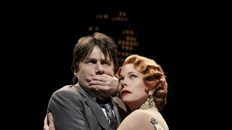 Zach Braff and Marin Mazzie in Woody Allen's