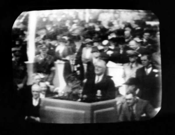 Television broadcast image of President Franklin Roosevelt at