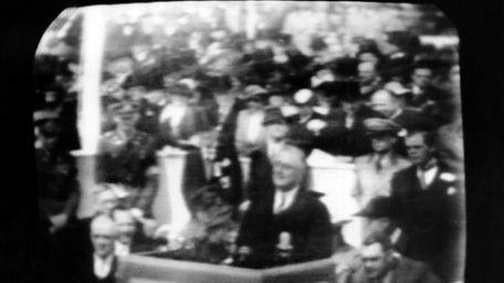 Television broadcast image of President Franklin Roosevelt at