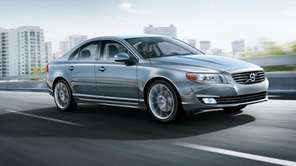 A manufacturer's photo of the 2014 Volvo S80.