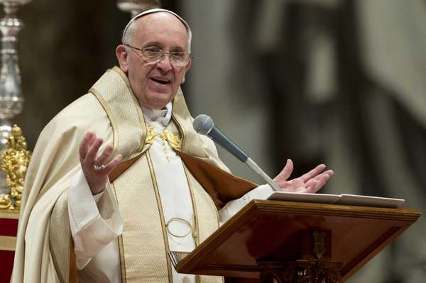 Pope Francis celebrates a Mass in St. Peter's