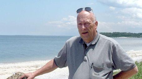 Mayor William Kelly of Asharoken is shown at
