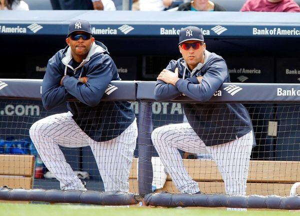 Derek Jeter and CC Sabathia of the Yankees
