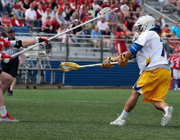 Hofstra's Mike Malave shoots and scores in an