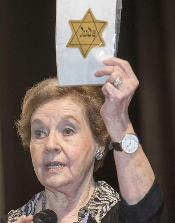 Marion Blumenthal Lazan, a holocaust survivor and co-author