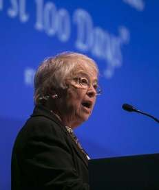 New York City's schools Chancellor Carmen Farina speaks