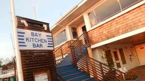 The entrance to Bay Kitchen Bar in East