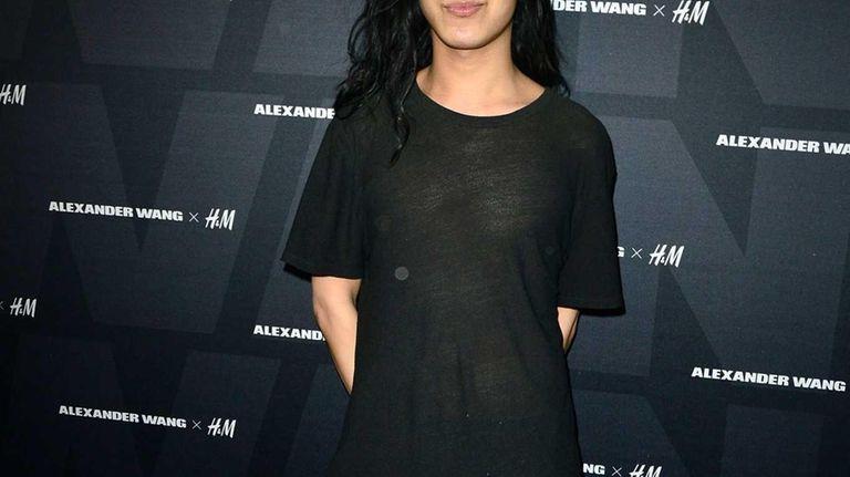 Alexander Wang arrives at the Alexander Wang X