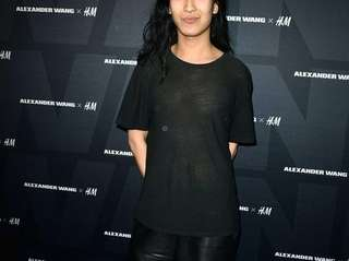 Alexander Wang arrives at the Alexander Wang X