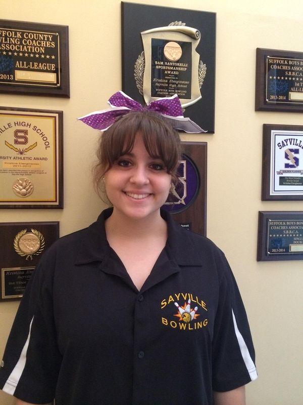 Sayville bowler Kristina Etergineoso.