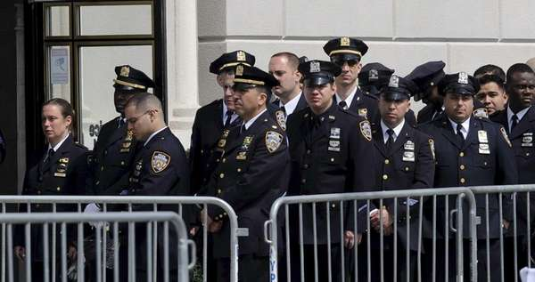 New York City Police Department officers at the
