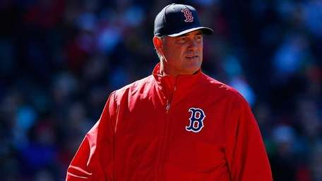 Manager John Farrell of the Boston Red Sox