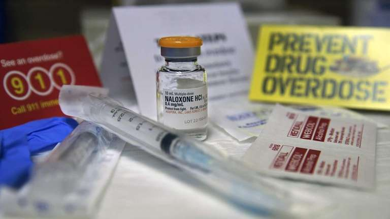 A kit with naloxone, also known by its