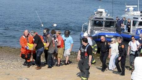 Two people were rescued after being thrown into