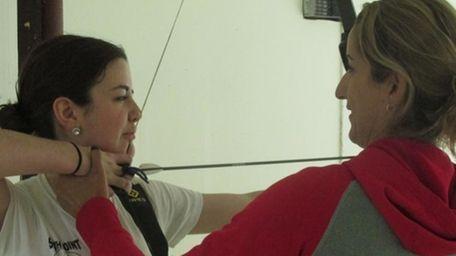 Olympic archer Khatuna Lorig helps aspiring Olympian Danielle