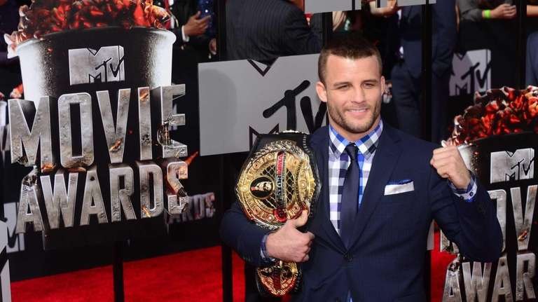 Bellator featherweight champion Pat Curran arrives for the