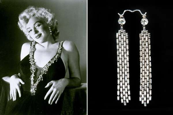 Marilyn Monroe in 1953, and the rhinestone earrings