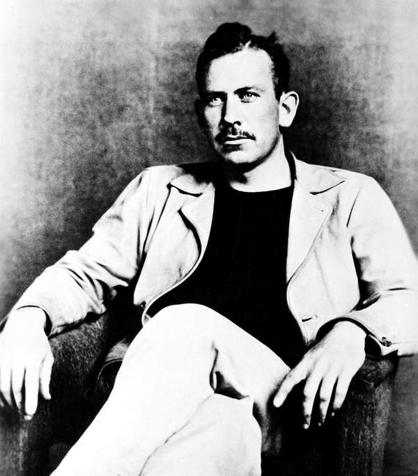 American author John Steinbeck, winner of the 1940