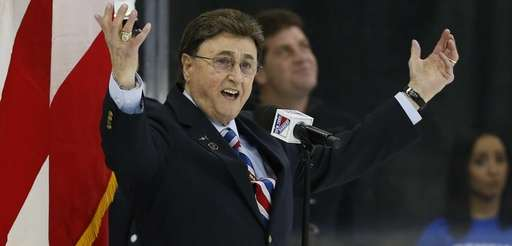 John Amirante signs the national anthem at Madison