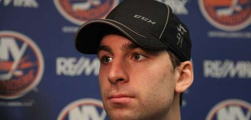 John Tavares speaks to reporters about the season