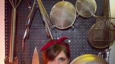 Executive chef Nicole Roarke in the kitchen of