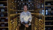 Executive chef Ben Durham in Prim's wine cellar