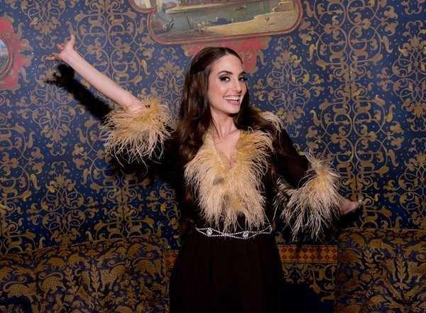 Singer/songwriter Alexa Ray Joel backstage at Cafe Carlyle