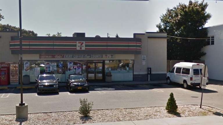 An exterior view of the 7-Eleven on Hempstead