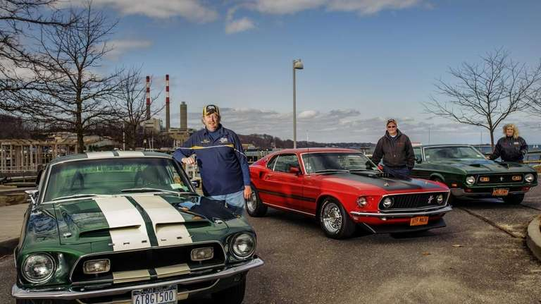 Members of the Long Island Mustang and Shelby