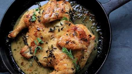 Impress dinner guests with this delicious skillet roasted