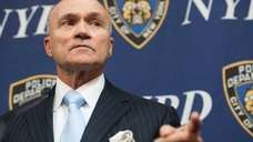 Police Commissioner Ray Kelly fields questions from the