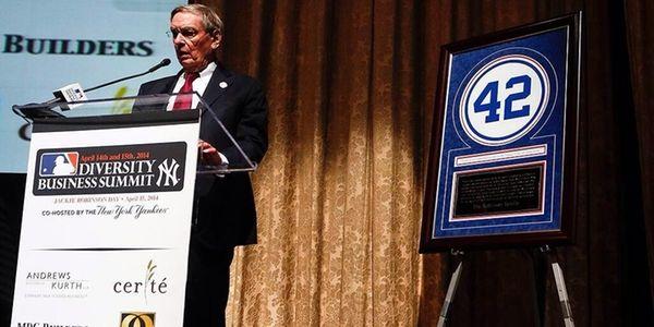MLB commissioner Bud Selig speaks during the MLB