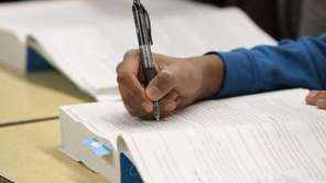 Students participate in a SAT prep course at