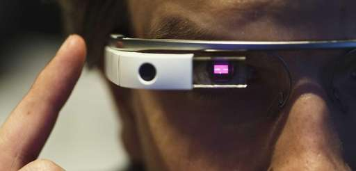 Google Glass used on Feb. 26, 2014. The