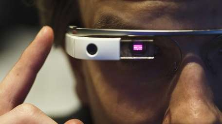 Google Glass used on Feb. 26, 2014.
